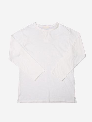 no.72) 루즈핏 노버튼 헨리넥 티셔츠
