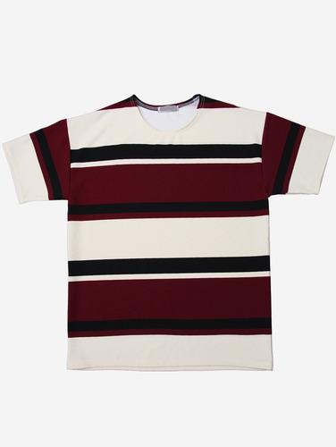no.65) 스트라이프 스판 폴리 3컬러 티셔츠