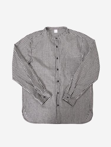 028) 시크 포켓 스트라이프 2컬러 헨리넥 셔츠