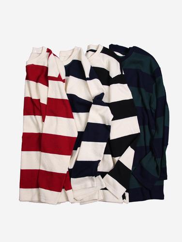 068) 빅 스트라이프 4컬러 박스핏 티셔츠 74