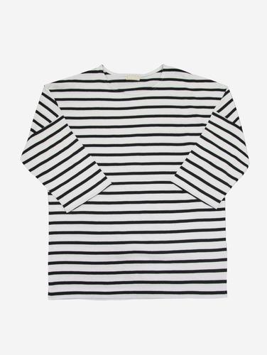 no.12) 스트라이프 가오리핏 4컬러 7부 박스 티셔츠