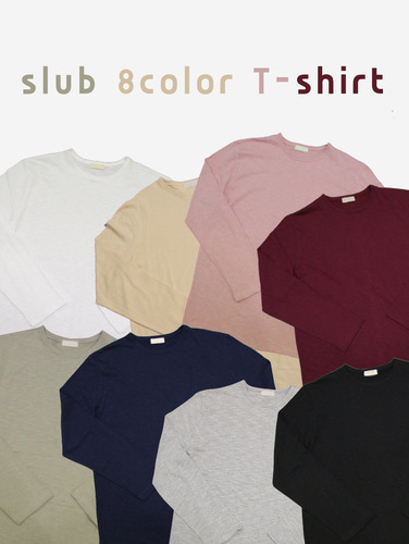 no.76) 20수 오버핏 슬럽 7컬러 티셔츠