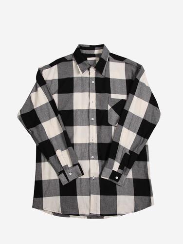 068) 오버핏 체크 패턴 2컬러 셔츠