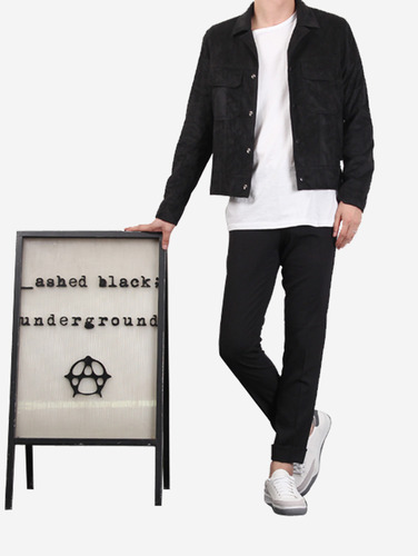 028) 산드* st 포켓 2컬러 스웨이드 자켓