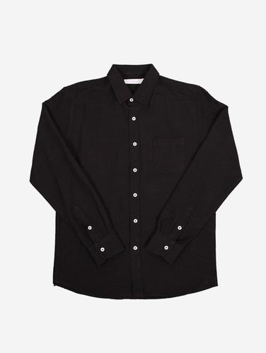 059) 원포켓 2컬러 코튼 셔츠