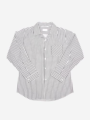 052) 스트라이프 박스핏 2컬러 코튼 셔츠