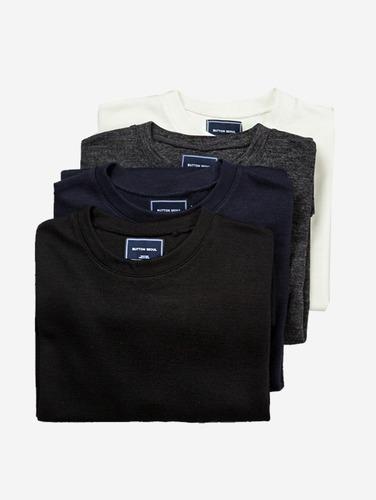 004) 쿠션 라운드 4컬러 티셔츠