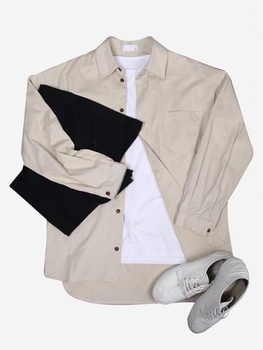 052) 오버핏 코튼 8컬러 코트 셔츠